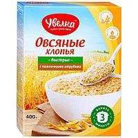 """Хлопья овсяные """"Увелка"""" с пшеничными отрубями 400 гр."""