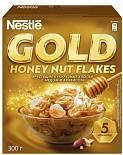 Хлопья кукурузные Nestle Gold с медом и арахисом 300 гр