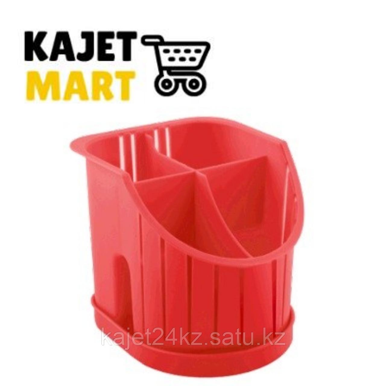 Сушилка для столовых приборов 4х-секционная красный