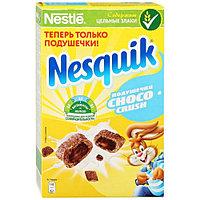 Nesquik®. ChocoCrush. Злаковые подушечки с шоколадной начинкой, обогащенные витаминами и минеральными веществ