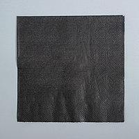 Салфетки, набор 20 шт., цвет чёрный