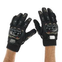 Перчатки для езды на мототехнике, с защитными вставками, пара, размер XXL, черные