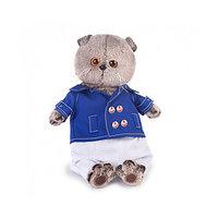 Мягкая игрушка 'Басик' в синем кителе, 30 см