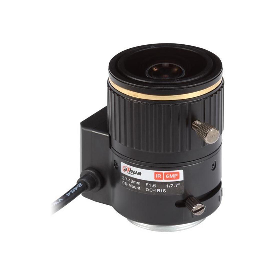 "Dahua DH-PFL2712-E6D Объектив для камер видеонаблюдения 1/2.7"", 6 мегапикс., Фокусное расстояние: f=2.7-12 мм."
