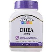 21st Century, DHEA, 25 мг, 90 капсул