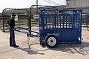 Станок для фиксации мясного КРС SO4  в комплекте с тележкой  для  транспортировки фиксирующего   станка S04, фото 3