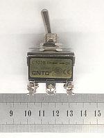 Тумблер 2 положения с фиксацией 15А 6 контакта, фото 1
