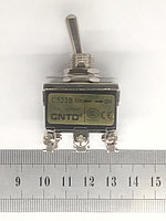 Тумблер 2 положения с фиксацией 15А 6 контакта