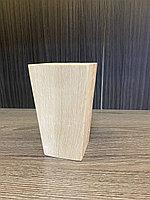 Ножка мебельная, деревянная, пирамида 12 см, бук.