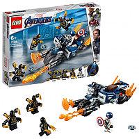 Конструктор LEGO Marvel Super Heroes Капитан Америка: Атака Аутрайдеров