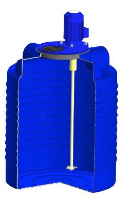 Емкость ЭВЛ 300 синий c пропеллерной мешалкой