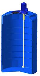 Емкость T 500 c пропеллерной мешалкой