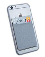 Карман-кошелёк картхолдер  на мобильный телефон, серый