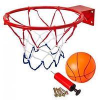 Набор баскетбольный: корзина d 32 см, насос, мяч d 16 см, болты для установки, металл