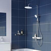 Смеситель для ванны с верхним душем и изливом ID SH белый/хром