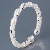 Браслет Плетенка - покрытие серебро 925