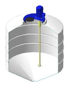 Емкость ФМ 500 в обрешетке c пропеллерной мешалкой