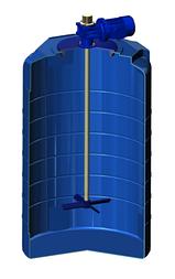Емкость T 500 с лопастной мешалкой