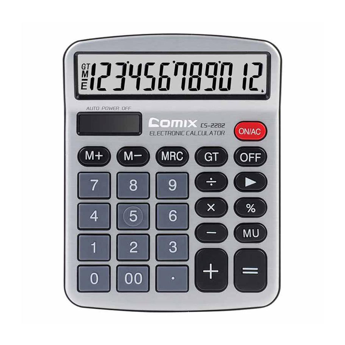 Калькулятор настольный Comix CS-2282 (Gray)