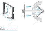 Подъемник двухстоечный, г/п 4т (220В) NORDBERG, фото 2