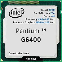 Pentium G6400, oem/tray