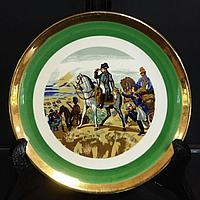 Коллекционные настенные тарелки серии «Битвы Наполеона» Франция, 1941- 1969г.г..