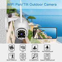 WiFi Камера уличная PTZ IP видеонаблюдения Full HD 1080P, беспроводная камера, сигнализация, ночная камера