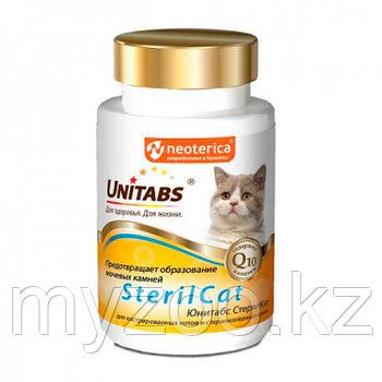 Unitabs Steril Cat для Профилактики Струвитов у Стерилизованных и Кастрированных Кошек