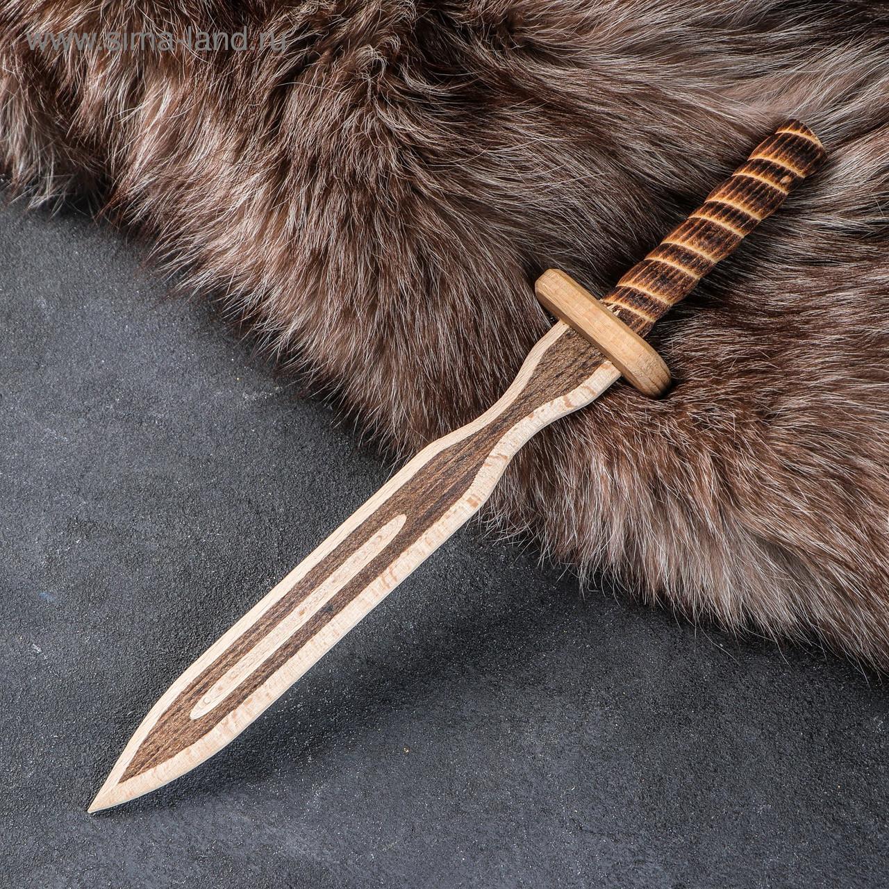 Деревянный Нож Клинок Тип 2 (31 см.)