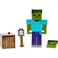 Minecraft Фигурка Майнкрафт Зомби с аксессуарами, 7 см