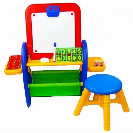 """Набор для творчества """"Мольберт №2""""(доска, стульчик, маркер, губка, мел, буквы, цифры, знаки)"""