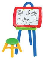"""Набор для творчества """"Мольберт №3""""(доска, стульчик, маркер, губка, мел, буквы, цифры, знаки)"""