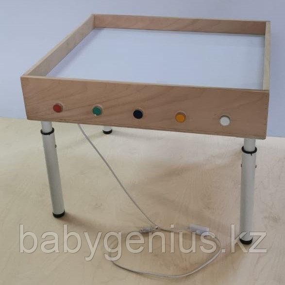 Световой стол из сосны для рисования песком