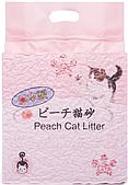 Комкующийся наполнитель Hakase Arekkusu для кошачьего туалета из тофу (Персик) - 6 л