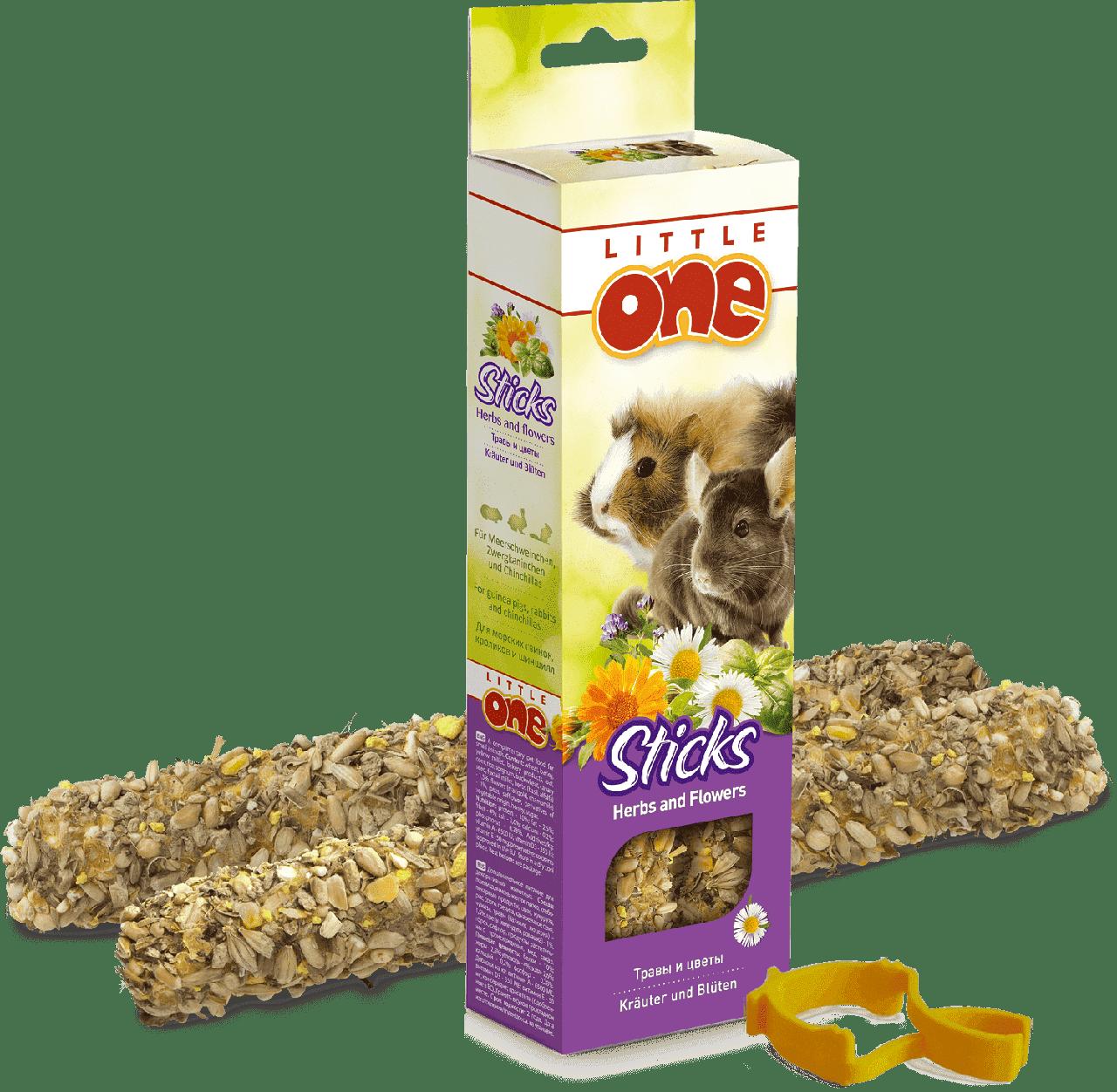 Лакомство для кроликов с травами и цветами, Little One - 2 шт