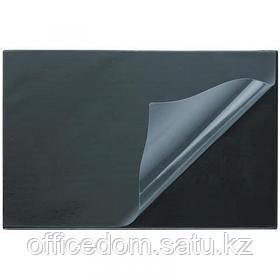 Подложка на стол с прозрачным покрытием Attache, 380х590 мм, черный