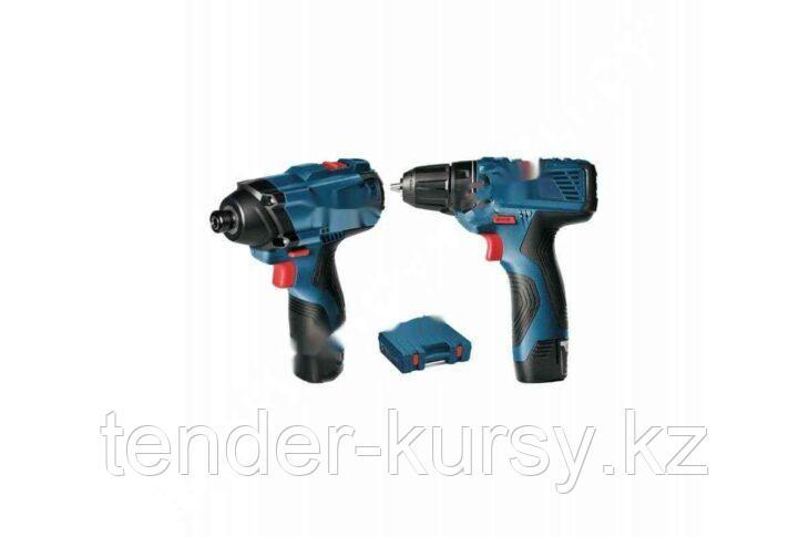 GSB 120-LI (2x 1.5Ah) + 11pcs bit set + 12 pcs drill set Bosch