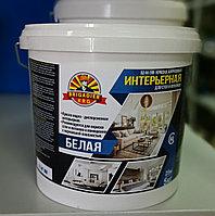 Водно-Дисперсионная краска Интерьерная для стен и потолков ВД-АК-2180. ведро 5 кг