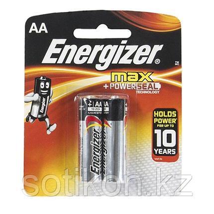 Элемент питания LR6 AA Energizer MAX  Alkaline 2 штуки в блистере., фото 2