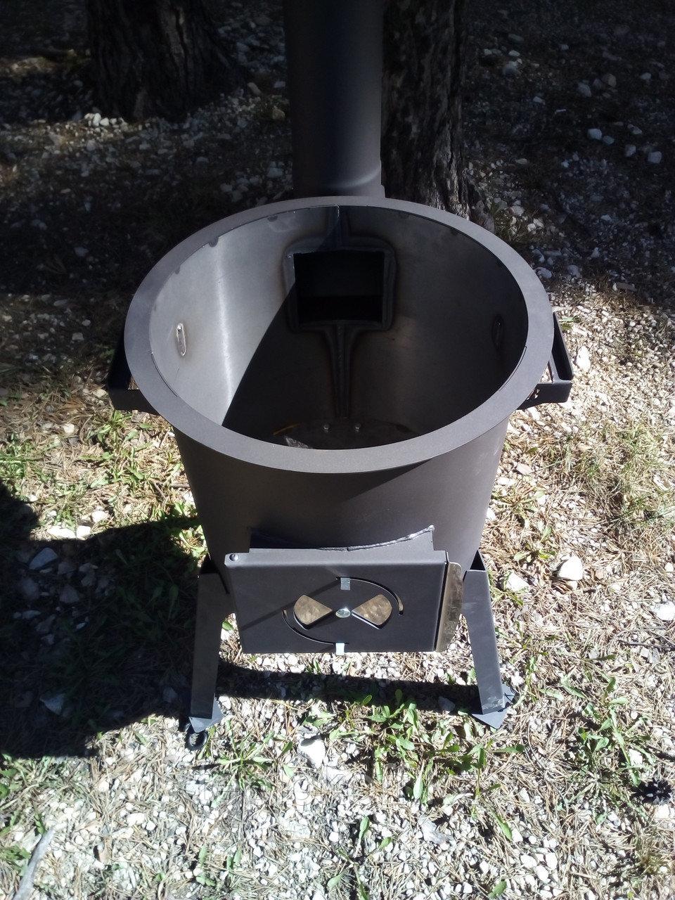 """Печь под казан """"Плов"""" 8-12 литров разборная, переносная, в комплекте с дымоходом"""