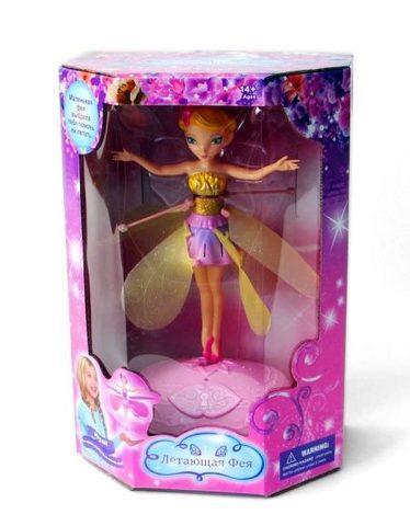 Игрушка с подсветкой и музыкой «Летающая фея» (Желтый)