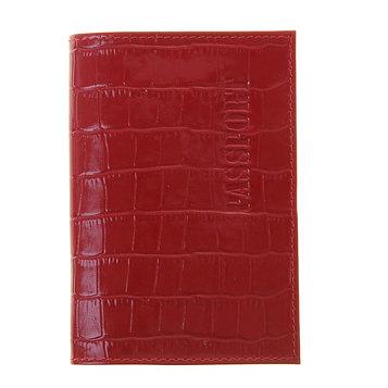 Обложка для паспорта с карманом, цвет красный