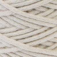 Шнур для вязания 100 хлопок, ширина 5 мм 100м/450гр (ваниль)