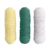 Шнур для вязания, 3 мм, хлопок 100 , набор 3 шт. (комплект 10)