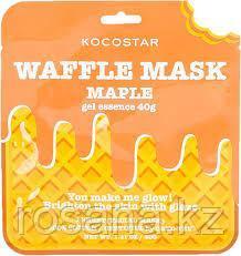 """Kocostar Омолаживающая вафельная маска для лица """"Кленовый сироп"""", сыворотка 40 г"""