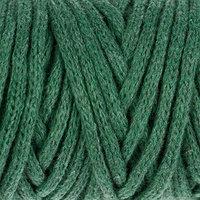 Шнур для рукоделия хлопковый 'Софтино' 100 хлопок 4 мм, 50м/140гр (т. зеленый)