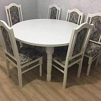 Круглый кухонный стол (6 стульев в комплекте)