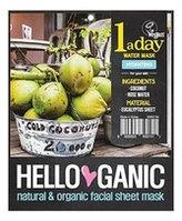 HelloGanic Увлажняющая маска для лица с Кокосовой водой и Алоэ Вера