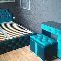 Мягкая мебель в спальню (кровать + пуф + трюмо) различные вариации под заказ