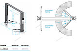 Подъемник двухстоечный, г/п 4т (380В) с электростопорами NORDBERG, фото 2
